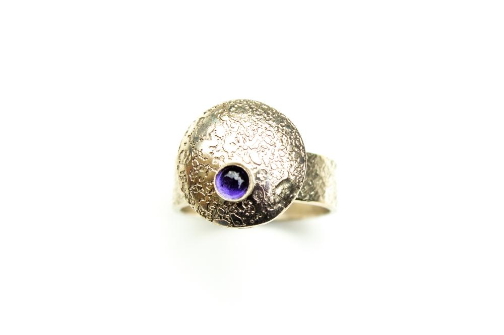 ring flying saucer iolite 3
