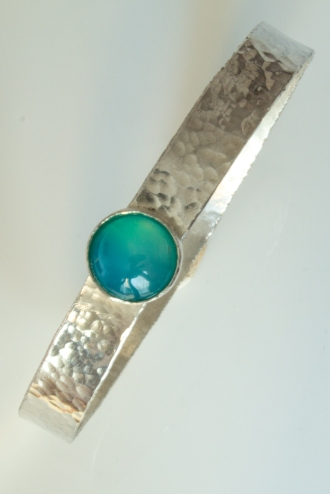 bangle sea blue agate