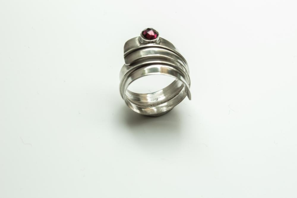 ring wrap garnet 3