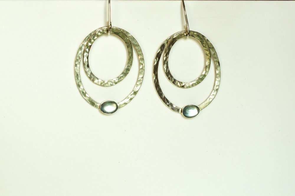 earrings drop 2 ovals BT