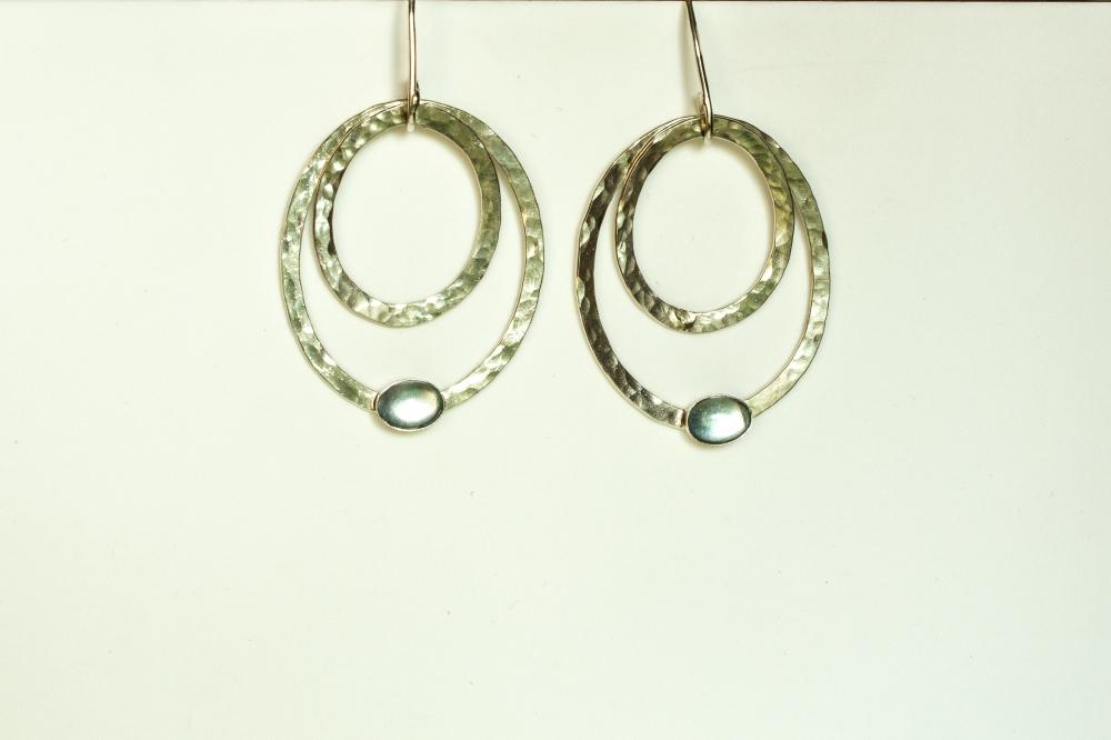 earrings drop 2 ovals BT