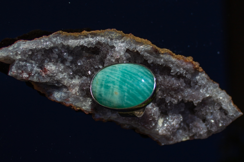 ring amazonite stone