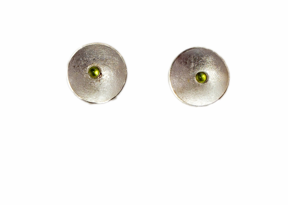 earrings drop round moonscape peridot 2
