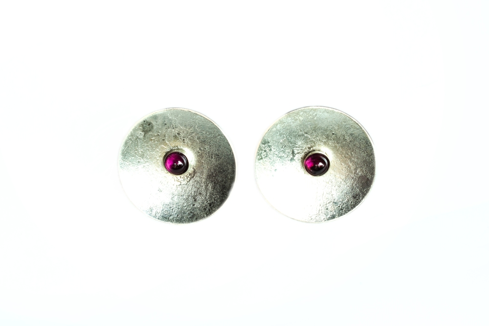 earrings round moonscape RG 6