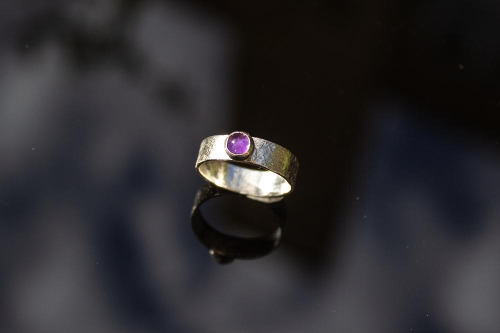 ring amethyst small