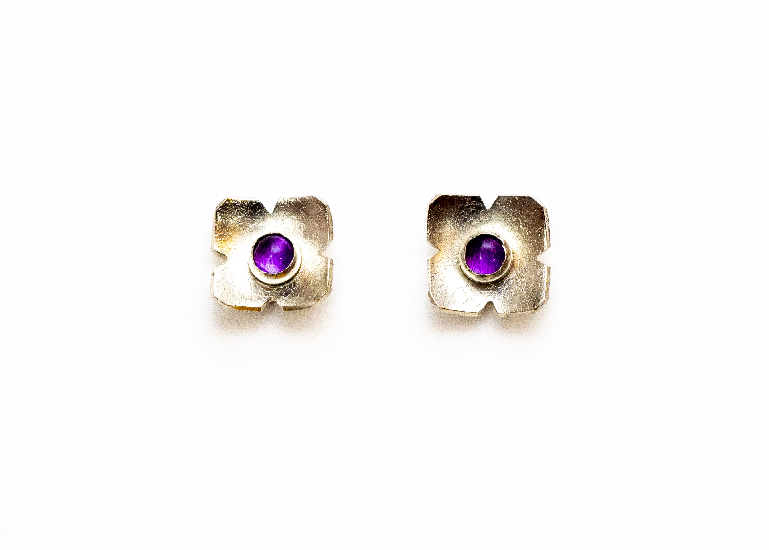 earrings flower amethyst 4
