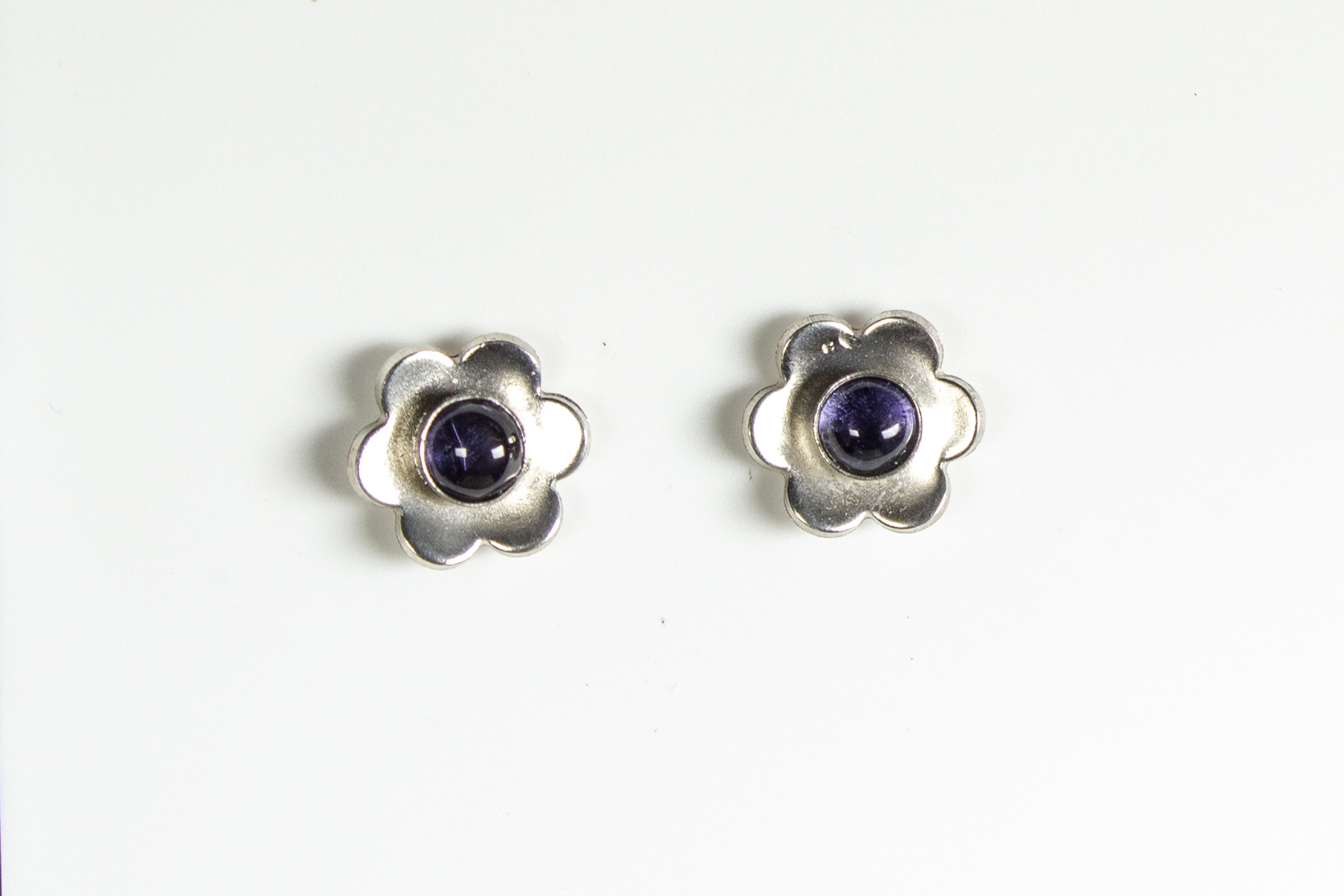 earrings flower iolite