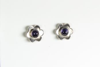 earrings flower iolite