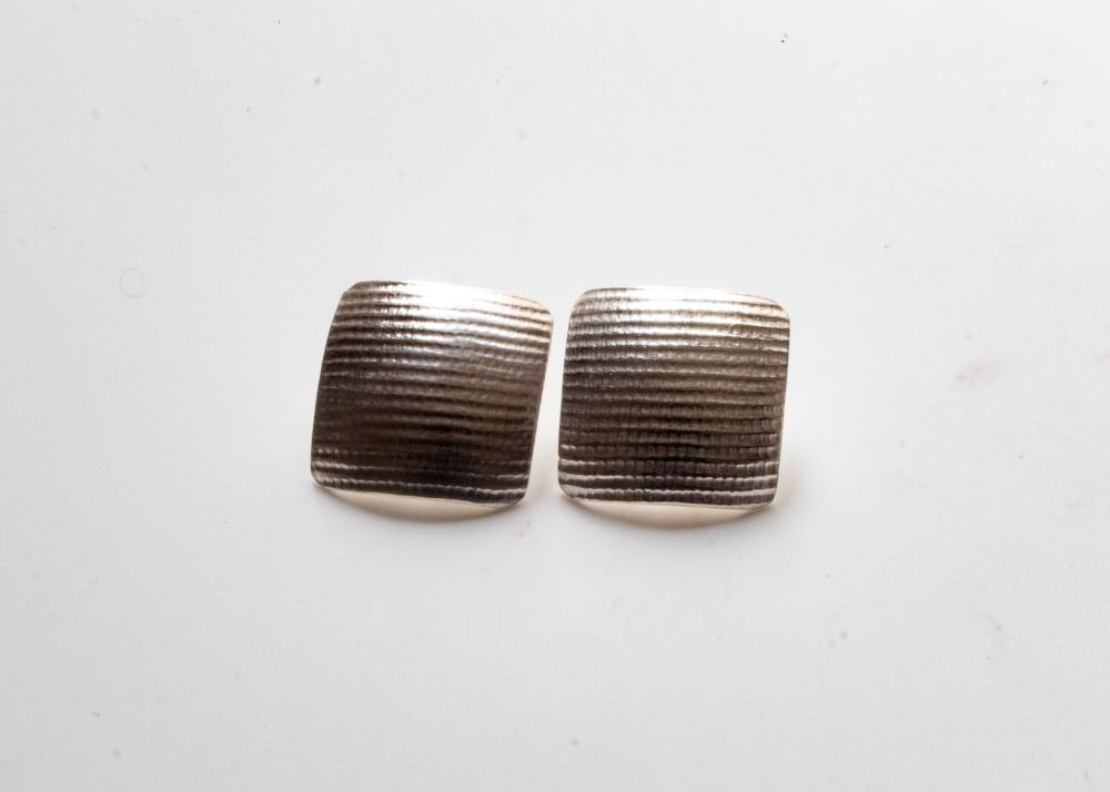 earrings square moire 12