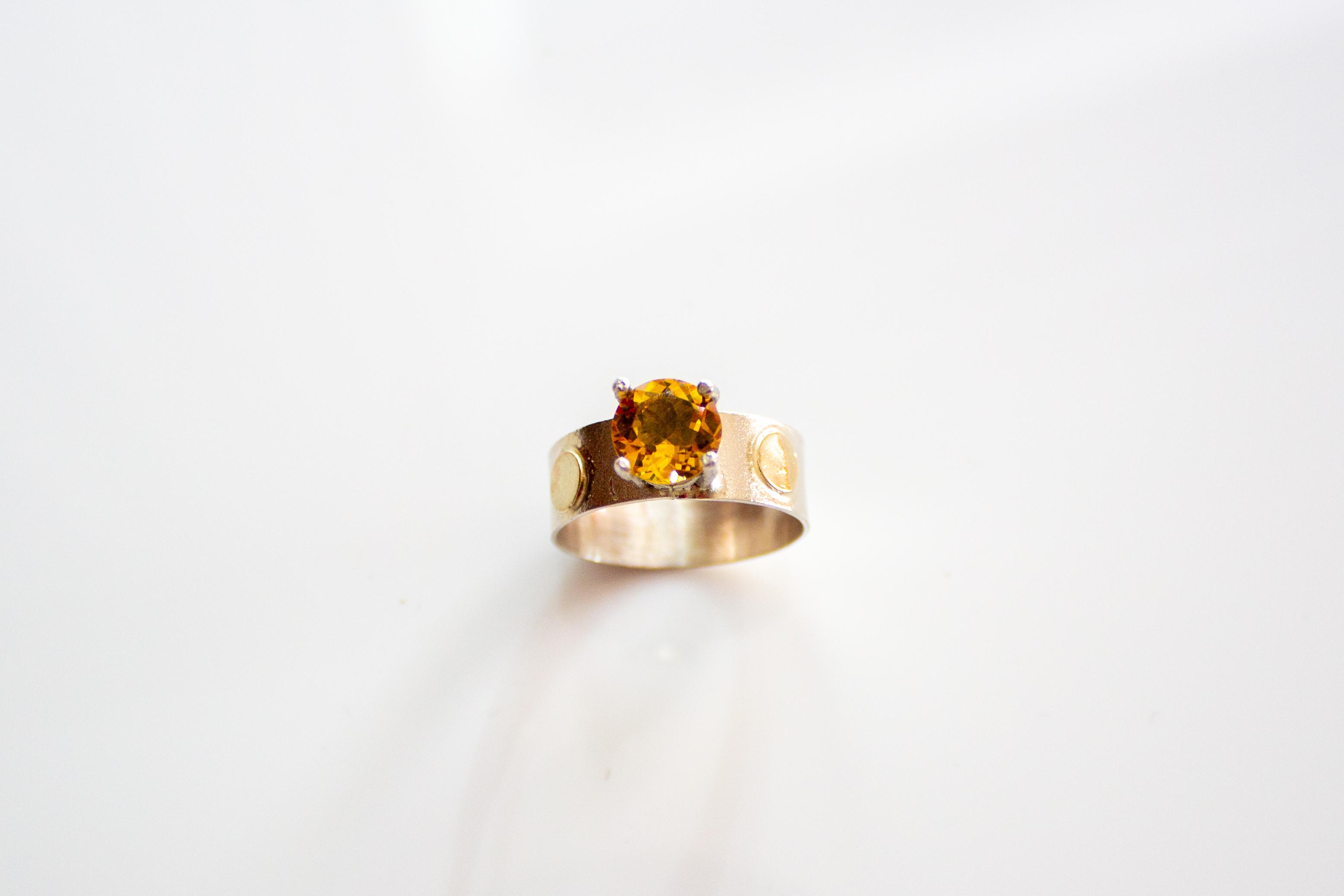 ring citrine dots 3