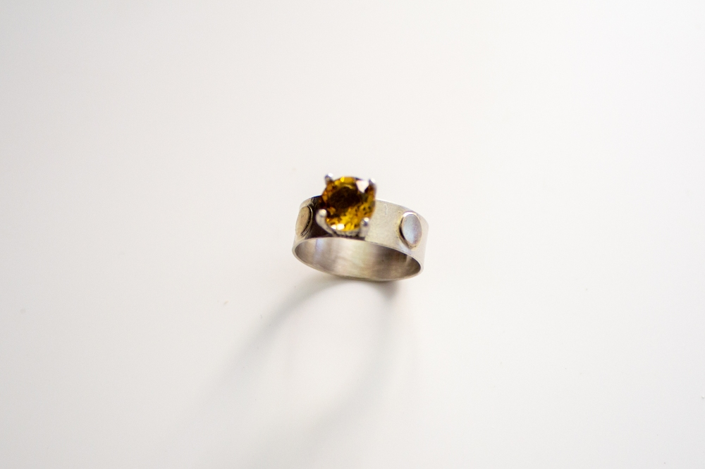 ring citrine gold dots 3