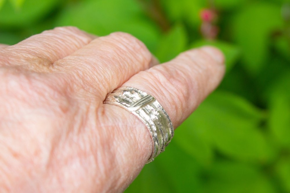 ring free form small 3 worn