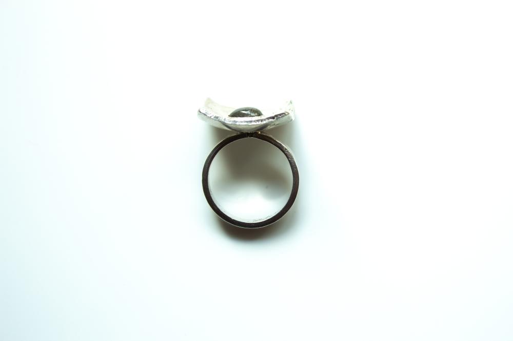 ring liquid silver labradorite 6