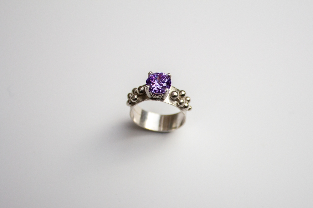 ring CZ lavender grapes 2