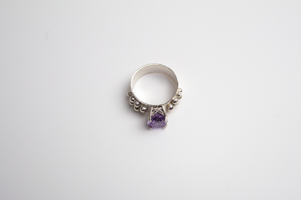 ring CZ lavender grapes 3
