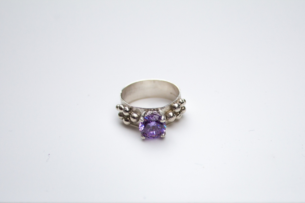 ring CZ lavender grapes 4