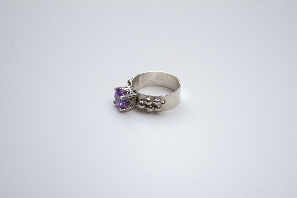 ring CZ lavender grapes 5