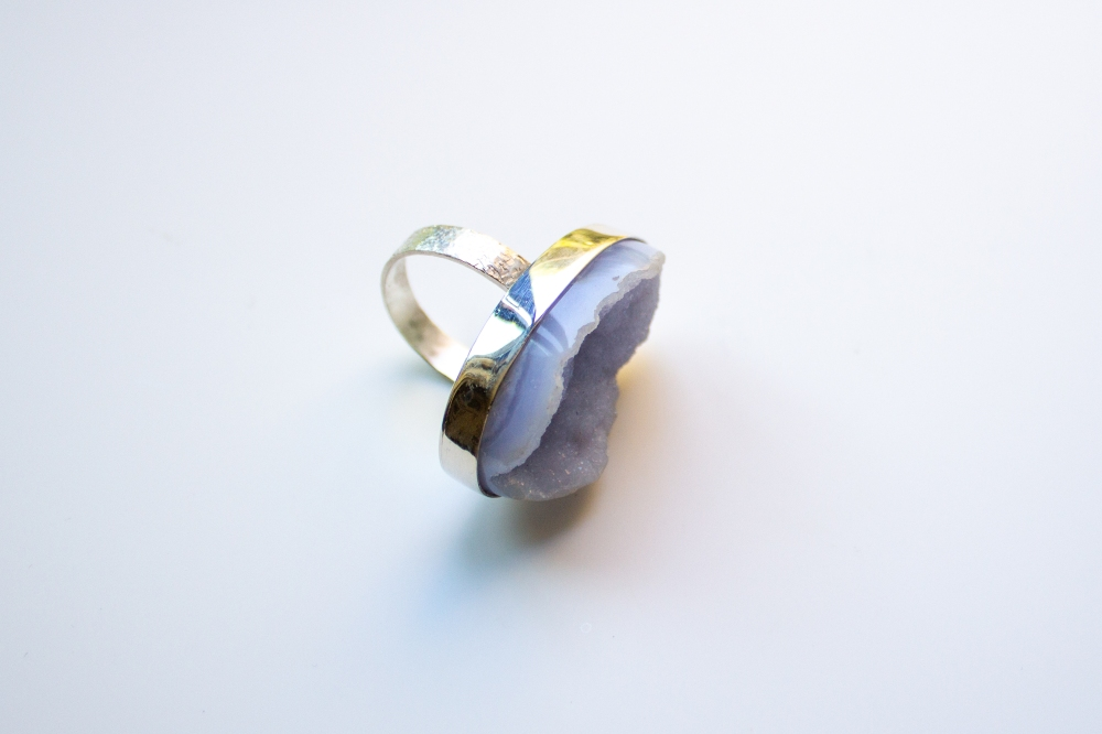 ring drusy chalcedony 6