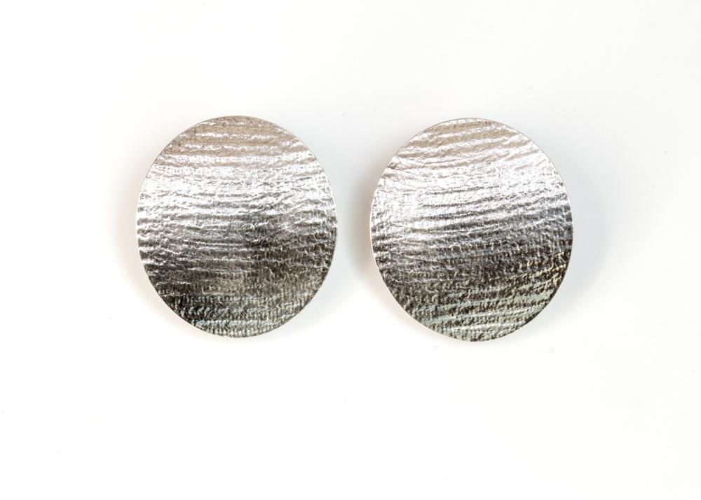 earrings clip moire oval