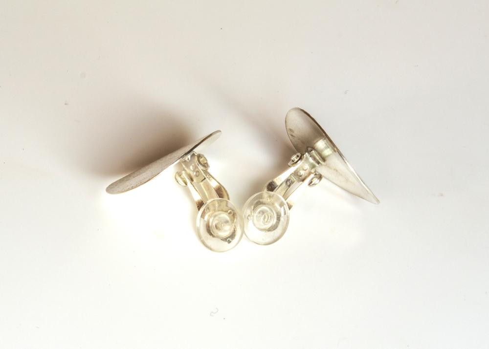 earrings clip moire oval 3